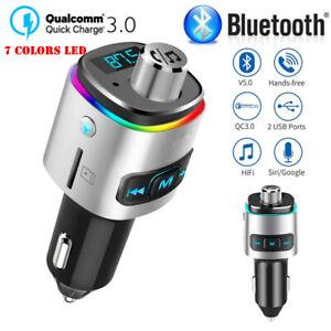 Transmetteur-FM-Bluetooth-Lecteur-MP3-Adaptateur-Radio-sans-Fil-Kit-Voiture-USB