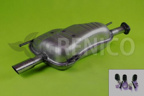 Endschalldämpfer OPEL ASTRA G 1.8 16V 2.0 16V Schrägheck 1998-2004 Montagesatz