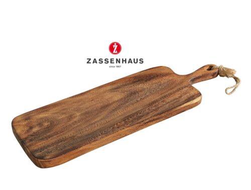 60 cm 059069 Artikelnummer Zassenhaus Servierbrett mit Griff aus Akazie ca