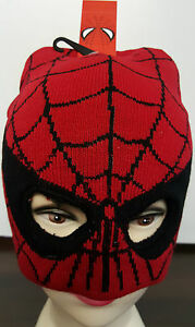 Kids Spiderman Spidey Winter Knit Beanie Balaclava Hat eBay