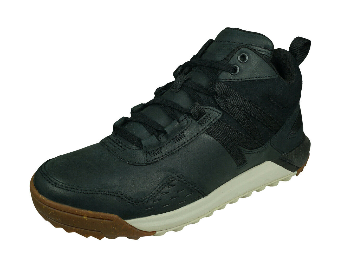 Merrell Indeway Mid Leather Mens Trainers Casual Walking Ankle Shoes - Black