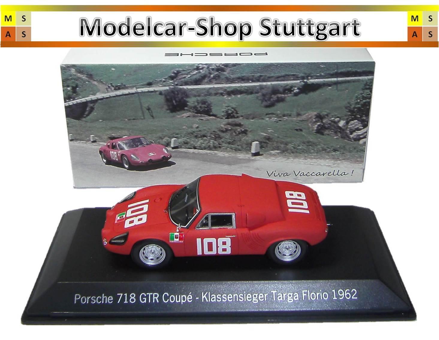 Porsche 718 gtr coupe winner targa florio  1962 spark 1 43 map02017115 nouveau  contre authentique