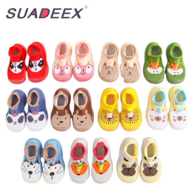 Shoes Socks Slipper Toddler Baby Kids Anti-slip Crawling Boots 0-12 Months