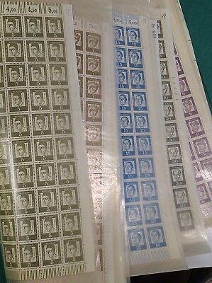 Briefmarken Bundesrepublik Deutschland Bogenware Postfrisch 14 Komplette BÖgen