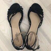Sandaler med kilehæl og pailetter
