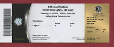 Orig.Ticket    EM Qual.  14.10.2014    DEUTSCHLAND - IRLAND   !!    SELTEN