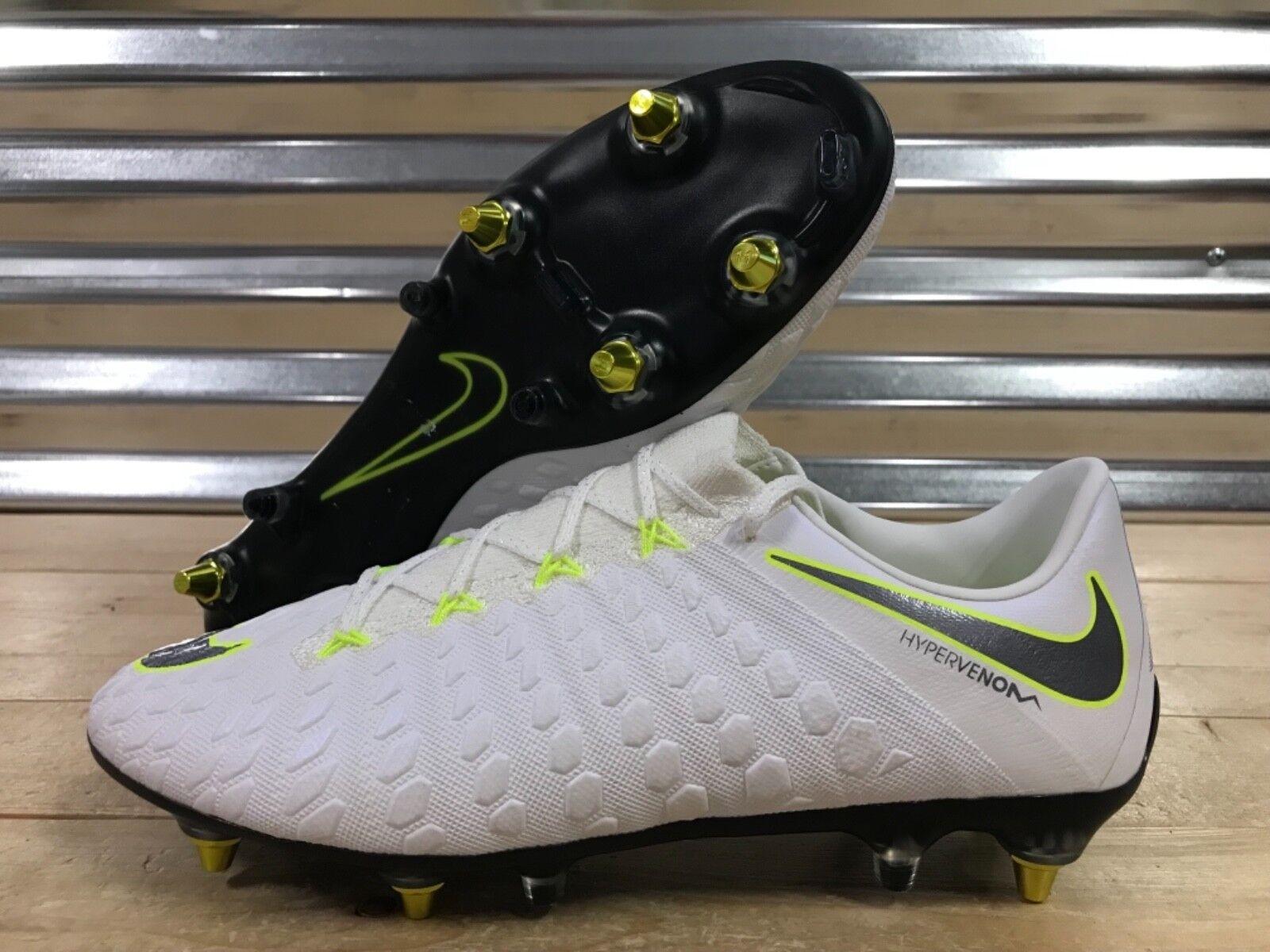 Nike Hypervenom Fantasma III 3 SG Pro Botines De Fútbol Tamaño voltios blancoo (AJ3810-108)
