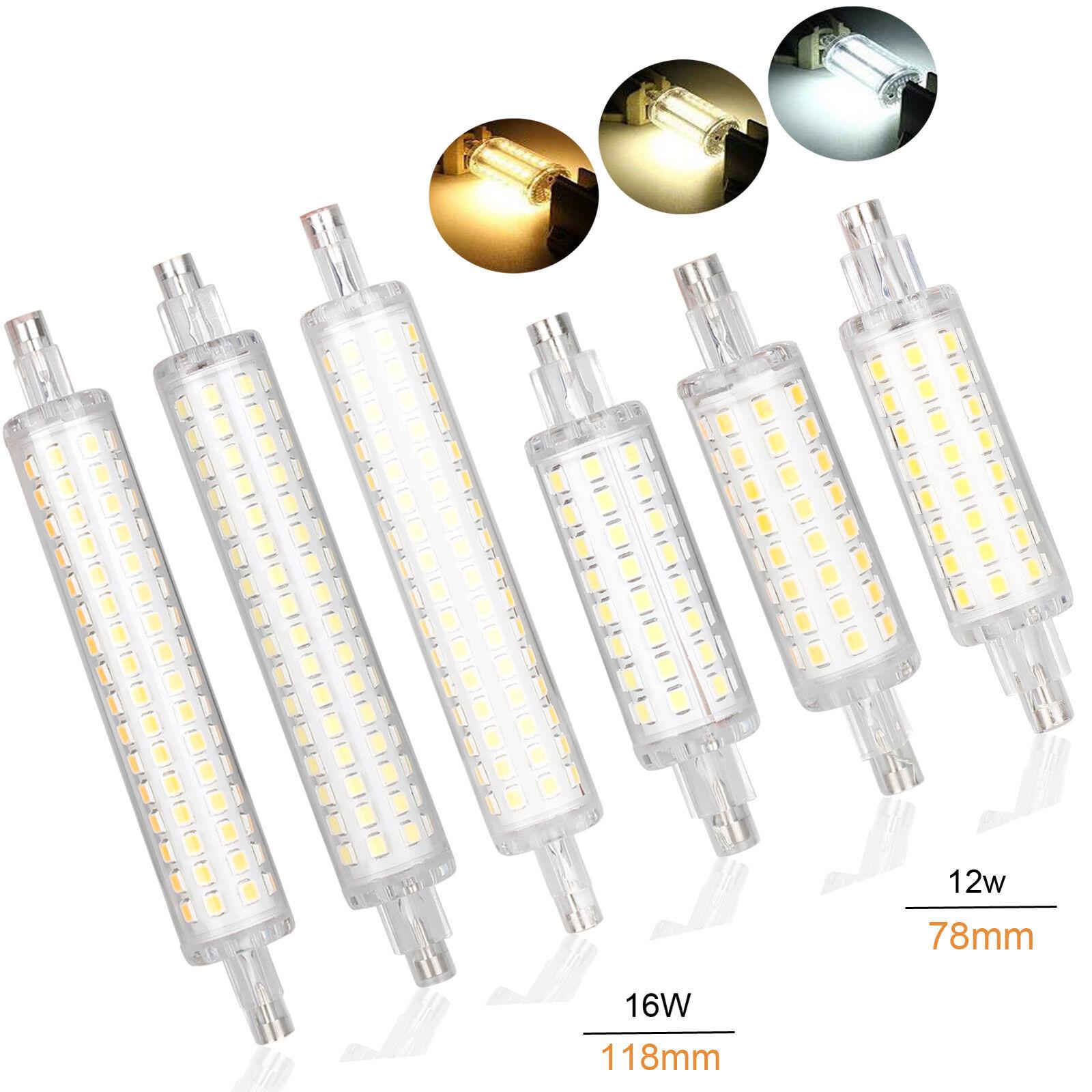 Bombillas LED R7S luz de inundación 78mm 118mm 12W 16W 2835 SMD lámparas halógenas de reemplazo