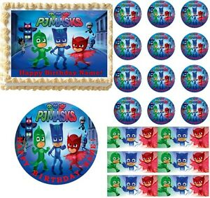 PJ MASKS Edible Cake Topper Image Frosting Sheet