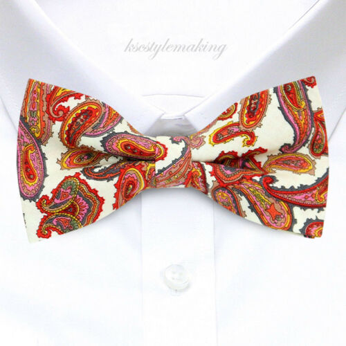 *BRAND NEW* HARD-TO-FIND RARE PAISLEY MENS COTTON TUXEDO BOW TIE B313