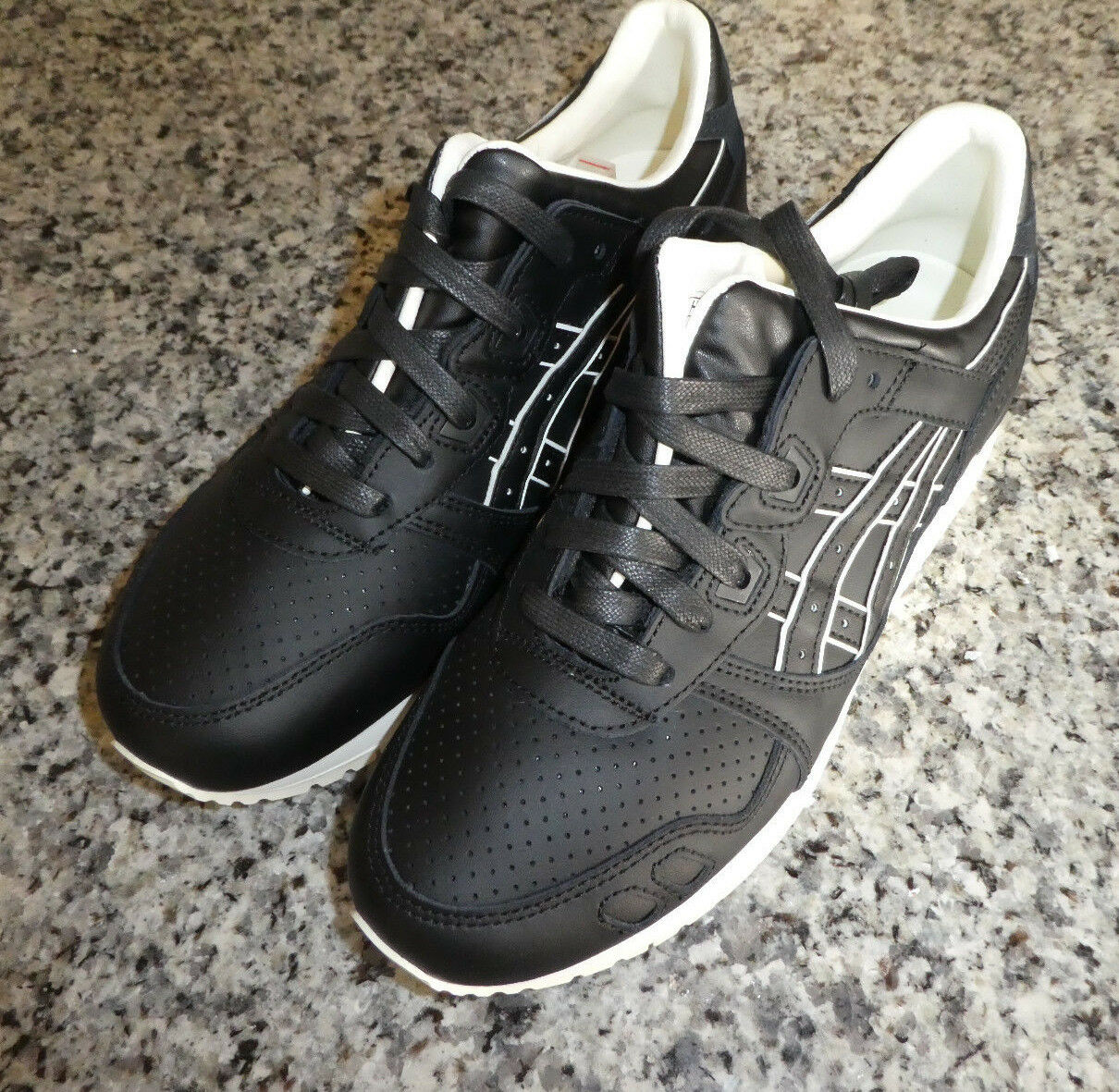 Asics Gel Lyte leather III shoes new black leather Lyte H6S3L 9090 71abc1