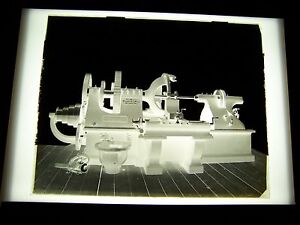 ANTIQUE-8-034-X-10-034-GLASS-PHOTOGRAPH-NEGATIVE-OF-THE-HENLEY-MACHINE-TOOL-WORKS