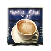Mystic Chai Spiced Tea Hot Cold Instant Powder Drink Mix 6 Cans = 12 Lbs