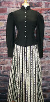 Frontier Classics Victorian Black Fitted Old West Blouse Steampunk Dickens