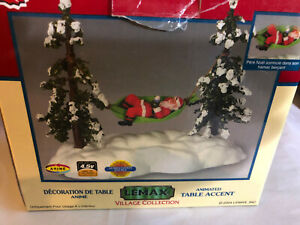 Lemax Swinging Santa In A Hammock Table Top Accent Village Display 2004  ( xbd5)