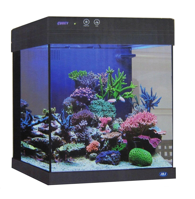 15 Gallone Cubey Misura Media Nero Pesce Serbatoio Tutto in uno Acquario da Jbj