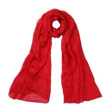 Premium Large Silky Plain Satin Oblong Scarf Wrap - Different Colors
