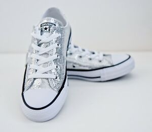 5ed44071f34 Image is loading Converse-All-Star-Chuck-Taylor-Silver-Glitter-Unisex-