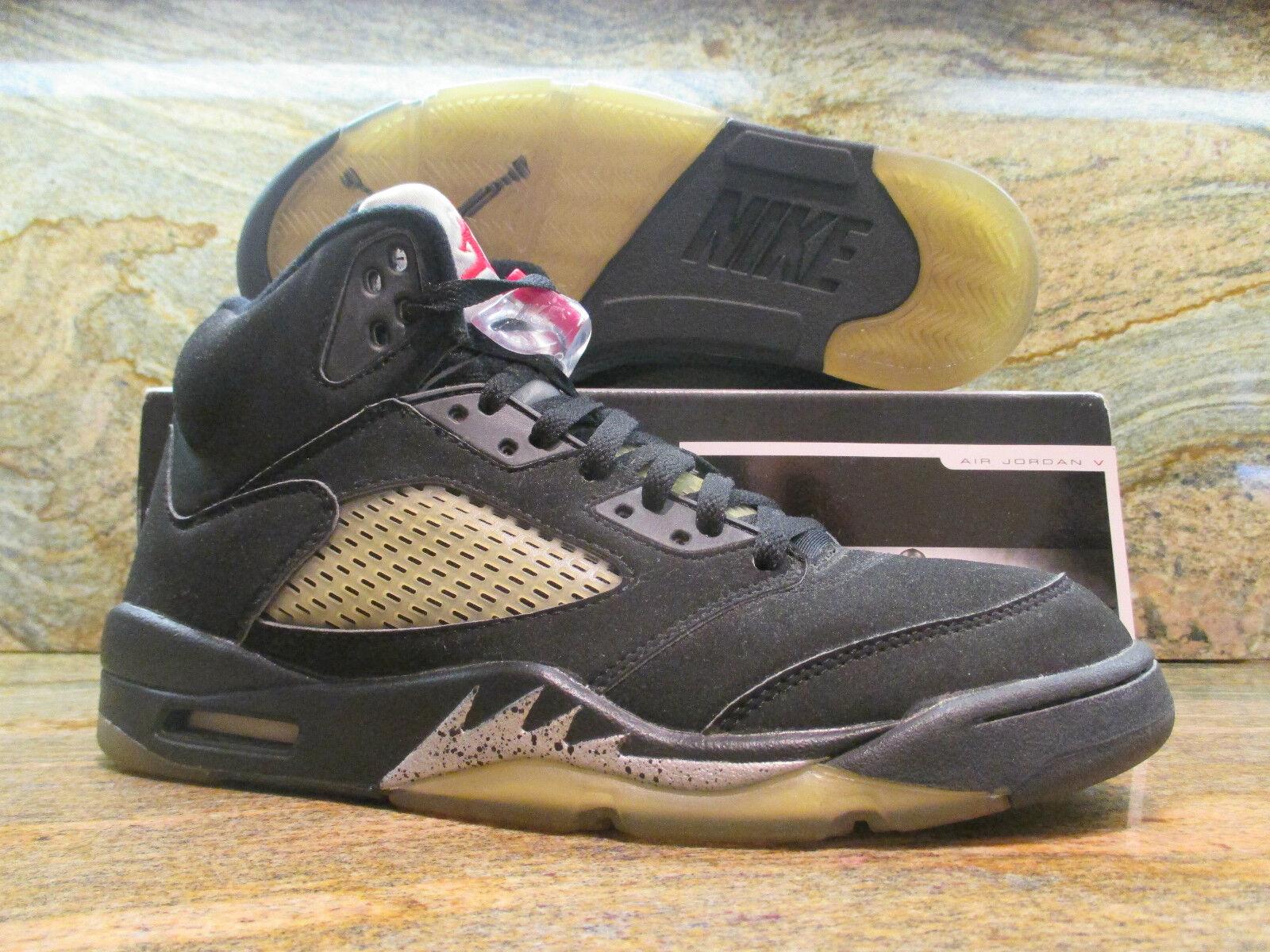 1999 Nike Air Jordan V 5 Retro OG SZ 9.5 Black Metallic Silver BIN 136027-001