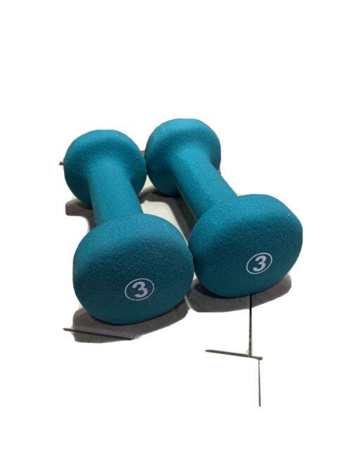 Rubber Hex Dumbbells Weights 3LB 2 Set//Pair