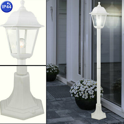 LED Außen Steh Leuchte Hof Einfahrt Beleuchtung Garten Edelstahl Stand Lampe