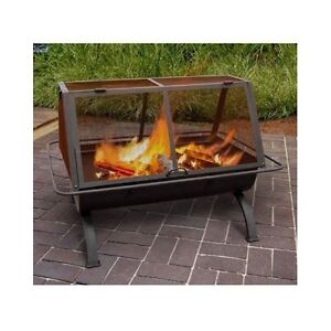 Outdoor Fireplace Fire Pit Wood Burning Chiminea Portable