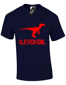 fb891c199 CLEVER GIRL KIDS CHILDRENS T SHIRT TOP JURASSIC DINOSAUR PARK T REX ...