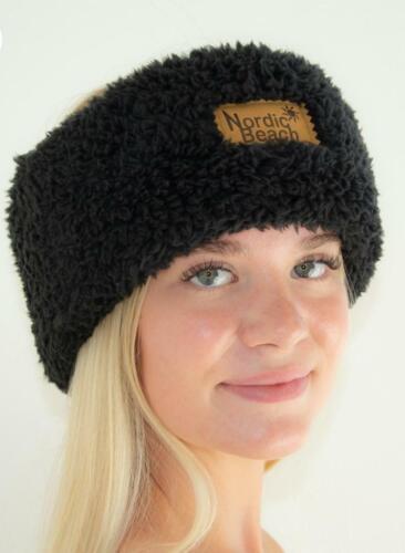 Nordic Beach Black Licorice Cozy Head Wrap