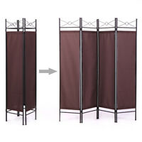 Room Divider Screen 4 Panel Bn Folding Partition Privacy Room Decor Metal Frame