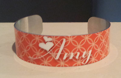 CUFF BRACELET MEDIUM PERSONALIZED MONOGRAM PATTERN CHOICE
