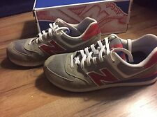 New Balance ML574 Grey Red Blue Men's Size 10