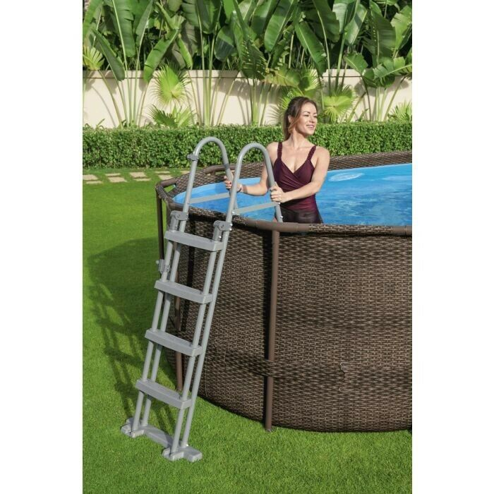 Bestway Large Swimming Pool 18ft X 9ft Limited Edition Rattan Design - Last Ones