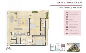 Preventa departamento Tipo en Desarrollo ALBA Puerto cancún (YR)