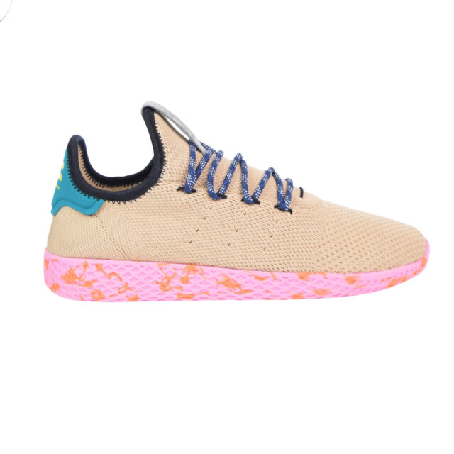 c2efb455e1d3e Adidas Pharrell Williams Tennis HU Men s Shoes Tan Teal Pink Marble by2672