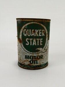 Vintage-Quaker-State-Metal-Motor-Oil-Can-1-Quart-Empty