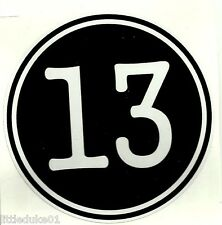 """13"" VINYL STICKER DECAL MOTORCYCLE HELMET BIKER CHOPPER BSA NORTON ARIEL"