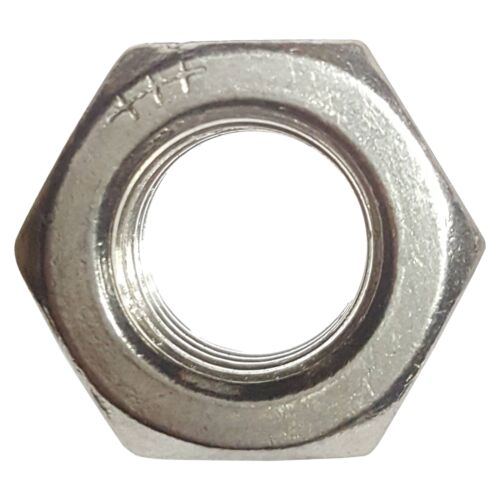 5//16-24 Hex Nut Stainless Steel Grade 18-8 Full Finished Qty 50