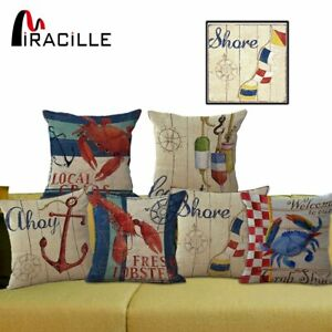 Miracille Decorative Sofa Seat Throw Pillowcase Sea Series Lobster Crab Ocean Ebay