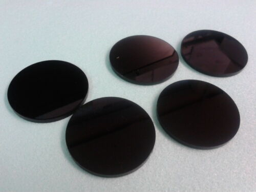 50 Laser Cut 3mm Black Acrylic Perspex Circles Discs Various Sizes Choose Size