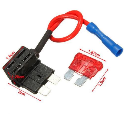12V Car Add-a-circuit Fuse TAP Adapter Standard ATM APM Auto Blade Sicherung