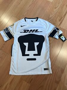 4f0652baa8b Nike Men's Soccer Mexico Pumas UNAM Home Jersey 2017 White/Gold Size ...