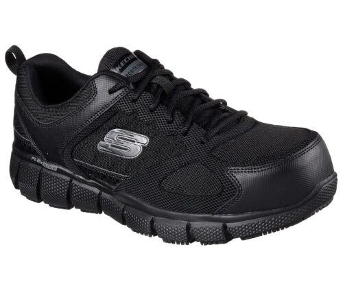 Hombre Espuma Skechers Negro Ancho Viscoelástica Trabajo Zapatos Corte 77132 0qYwtPY