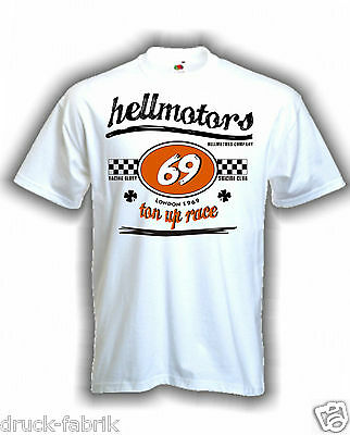 Old School Stuff Vintage Hot Rod T-Shirt weiß V8 Retro Kult Ace Cafe Race 69 Tee