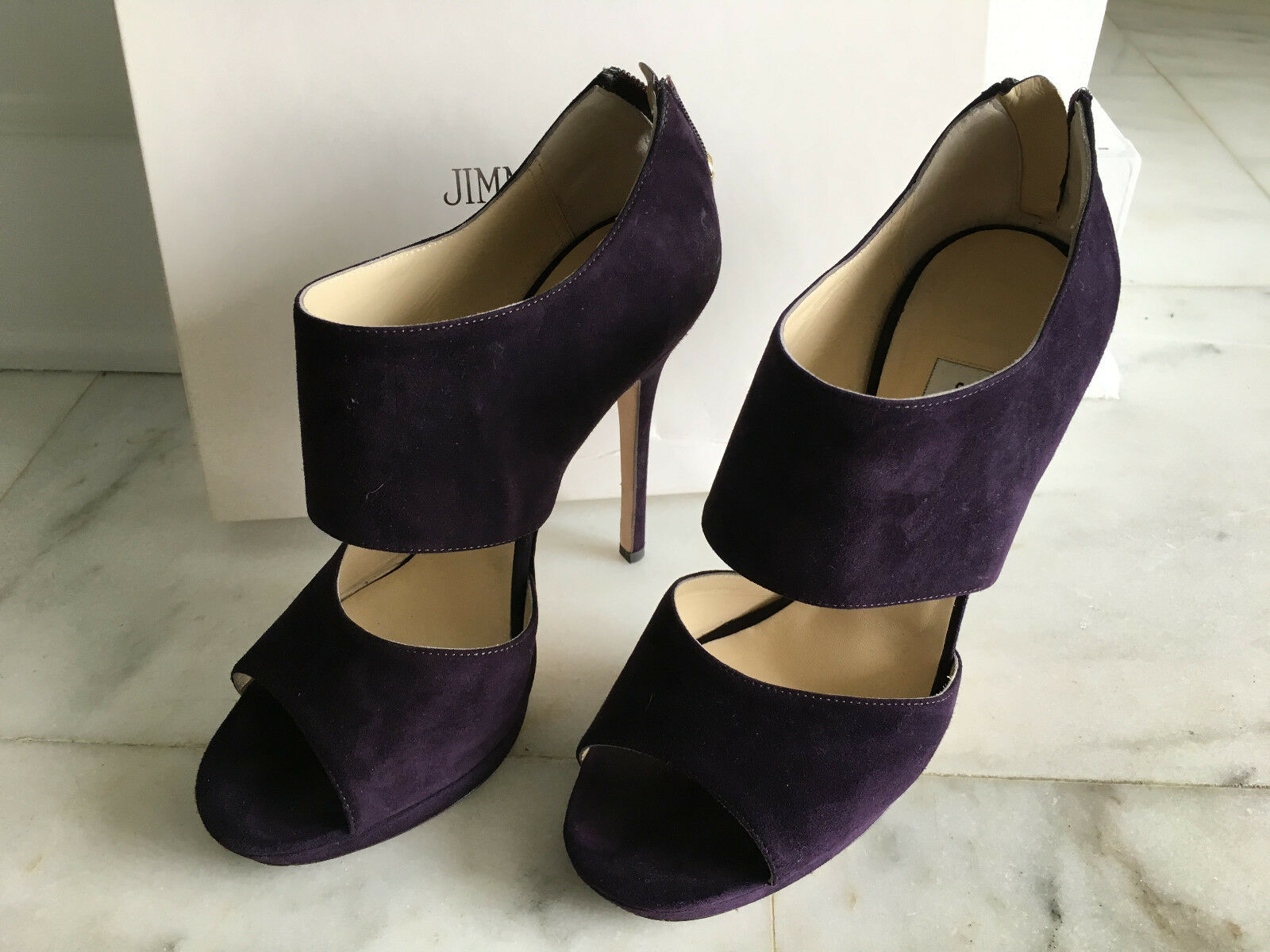 Authentic JIMMY CHOO Private violet Suede Taille 38 Worn Once