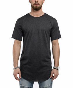 6640de706401 Image is loading Blackskies-round-Longshirt-T-Shirt-Charcoal-Oversize-Mens-