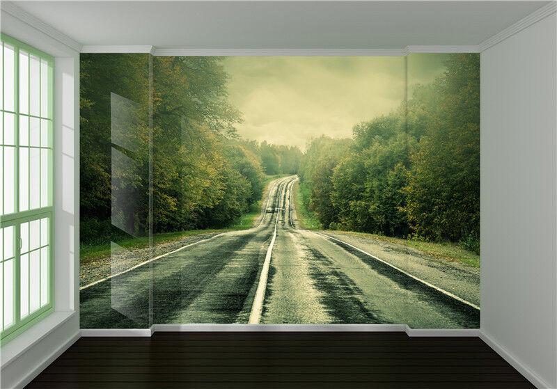 3D Wälder Straße Natürlich 8933 Tapete Wandgemälde Tapeten Bild Familie DE Lemon