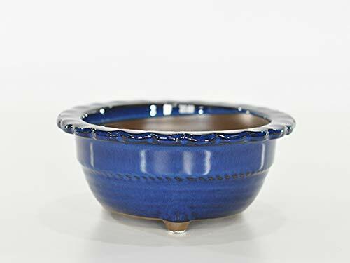 Bonsai Pot japonés D150mm  H70mm I-Ware Cerámica Esmalte Azul  190726047