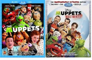 Disney-THE-MUPPETS-amp-MUPPETS-MOST-WANTED-Movie-2PK-BLURAY-DVD-Combo-NEW-USA