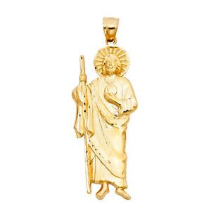 Details about  /14K Solid Real Yellow Jesus Religious Pendant For Men Women Jesus  Pendant