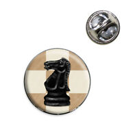 Black Knight Chess Set Lapel Hat Tie Pin Tack